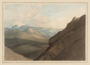 Top of the Splügen Pass. I null by Francis Towne 1739-1816 passo sublime